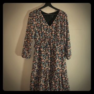 J.Crew Ruffle-hem dress in paisley floral size 6